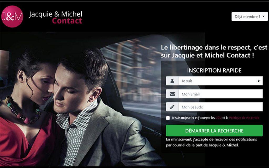 Page d'accueil du site JM