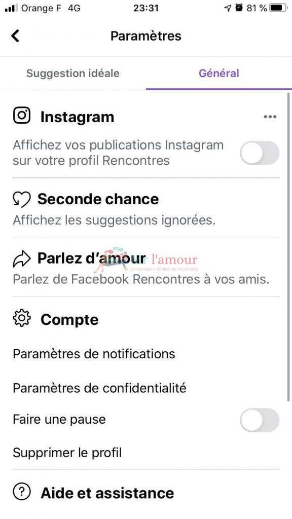 Supprimer profil facebook rencontres